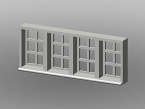 20x8mm Fenster 4-Teilig, 1:160 in Smooth Fine Detail Plastic