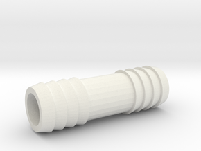 5/8 Inch Hose Barb in White Strong & Flexible