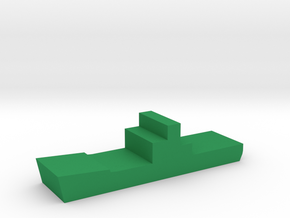 Game Piece, WW2 Cargo Ship in Green Processed Versatile Plastic