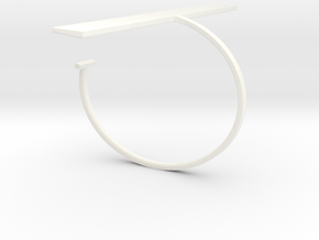 a r c h i t e c t s series - Bracelet Ruler in White Strong & Flexible Polished