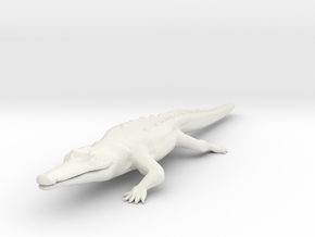 Croc/Alligator in White Natural Versatile Plastic