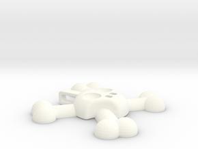 Skull and Crossbones Pendant in White Processed Versatile Plastic