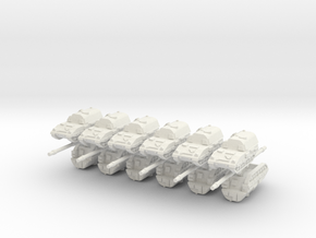 3mm PzH 2000 SP Artillery Pieces (12pcs) in White Natural Versatile Plastic
