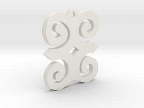 Dwennimmen Pendant in White Natural Versatile Plastic