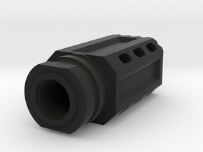 Meat Mallet Flash Hider - Airsoft in Black Natural Versatile Plastic