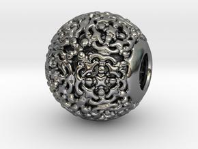 PA CharmV1D14SE504 in Fine Detail Polished Silver