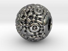 PA CharmV1D14SE77 in Fine Detail Polished Silver