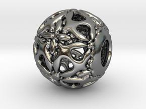 PA CharmV1D14SE65 in Fine Detail Polished Silver