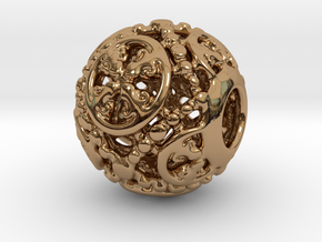 PA CharmV1D14SE50 in Polished Brass