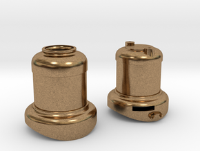 SE scale Domes with Sloted Sand dome in Natural Brass
