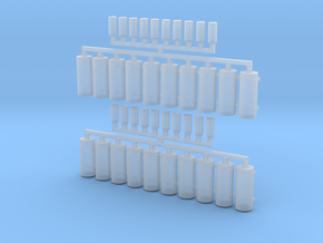 AWS Reservoir Tanks x20 (OO Gauge) in Smooth Fine Detail Plastic