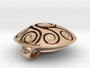 Handpan Instrument Pendant v5 in 14k Rose Gold