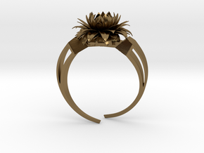 Aster Ring Stl in Polished Bronze