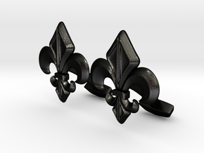 Designer Cufflink in Matte Black Steel
