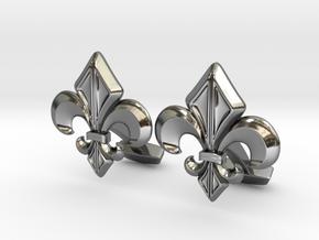 Gothic Cufflinks in Fine Detail Polished Silver