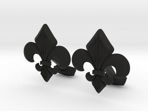 Gothic Cufflinks in Black Natural Versatile Plastic