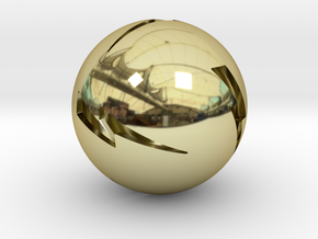 Lightning Ball! in 18k Gold