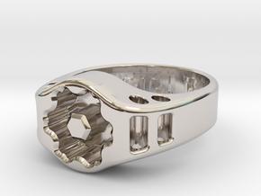 US11 Ring XIX: Tritium (Silver) in Platinum