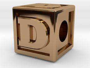 "Name Pieces; Letter ""D"" in Polished Brass"