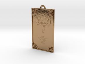 Game of Thrones - Greyjoy Pendant in Polished Brass