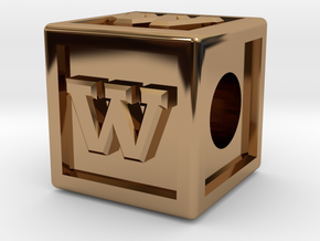"Name Pieces; Letter ""W"" in Polished Brass"