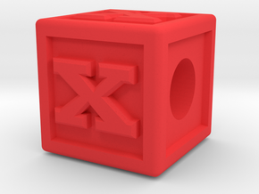 """Name Pieces; Letter """"X"""" in Red Processed Versatile Plastic"""