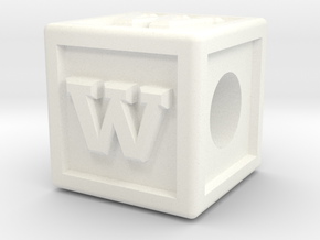 """Name Pieces; Letter """"W"""" in White Processed Versatile Plastic"""