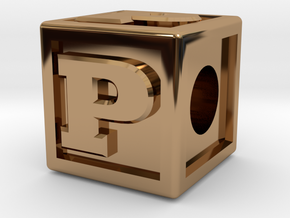 "Name Pieces; Letter ""P"" in Polished Brass"