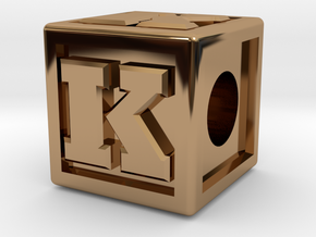 "Name Pieces; Letter ""K"" in Polished Brass"