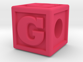 """Name Pieces; Letter """"G"""" in Pink Processed Versatile Plastic"""