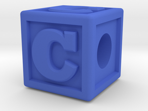"Name Pieces; Letter ""C"" in Blue Processed Versatile Plastic"