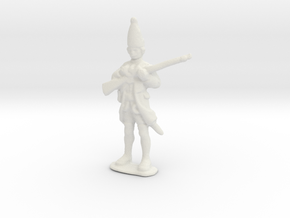 Thin Figurine in White Natural Versatile Plastic