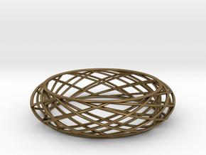 Bracelet Circles Sleek (size M) in Polished Bronze
