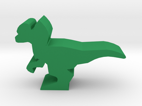 Dino Meeple, Dilophosaurus in Green Strong & Flexible Polished