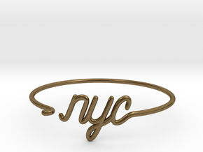 NYC Wire Bracelet (New York City) in Raw Bronze