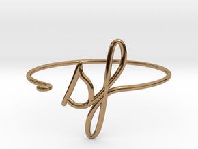 SF Wire Bracelet (San Francisco) in Polished Brass