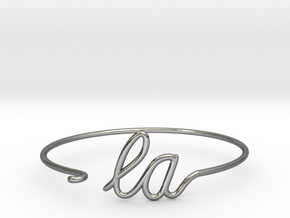 LA Wire Bracelet (Los Angeles) in Polished Silver