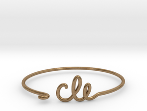 CLE Wire Bracelet (Cleveland) in Natural Brass