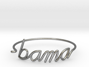 BAMA Wire Bracelet (Alabama) in Polished Silver