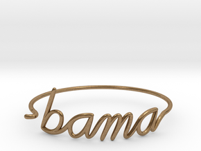 BAMA Wire Bracelet (Alabama) in Natural Brass