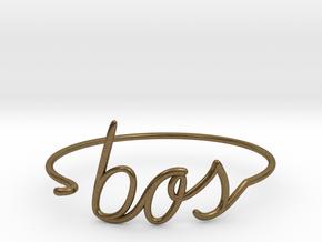 BOS Wire Bracelet (Boston) in Natural Bronze