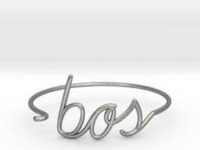 BOS Wire Bracelet (Boston) in Natural Silver