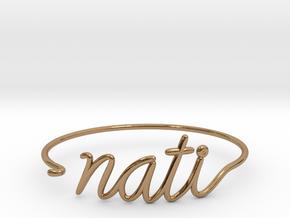 NATI Wire Bracelet (Cincinnati) in Polished Brass