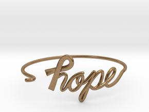 Ribbon of Hope Bracelet in Natural Brass