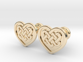 Heart Cufflinks in 14K Yellow Gold