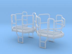 4er Set Plattform für Dreiseitenkipper 1:87 in Frosted Ultra Detail