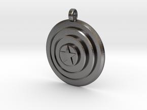 Captain America Shield (Pendant/Keychain) in Polished Nickel Steel