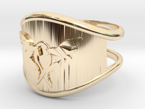 L.O.V.E. Ring size 9 in 14k Gold Plated Brass