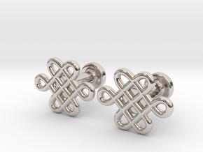Celtic Cufflinks in Rhodium Plated Brass