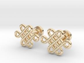 Celtic Cufflinks in 14k Gold Plated Brass